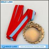 La pièce de monnaie faite sur commande d'enjeu de médailles de blanc de médaille de bâti ouvre le souvenir