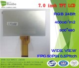 Visualizzazione originale dell'affissione a cristalli liquidi di pollice 800X480 RGB 50pin 250CD/M2 di Innolux At070tn92 7