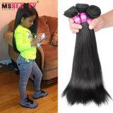 Wholeasla Unprocessed Brazilian Virgin Cheveux humains Soyeux Straight Hair Weaving
