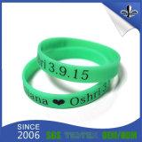 Wristband di gomma del silicone del braccialetto del regalo di promozione con colore riempito