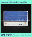 Cartão de impressão a quatro cores com jato de tinta com faixa magnética para anúncio