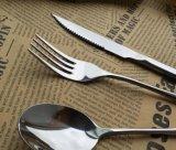 Type jeu mat en métal de jeux de dîner de couverts de vaisselle plate de fini