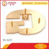 Het gouden Douane Gegraveerde Etiket van het Embleem van het Metaal voor de Handtassen van de Kleding