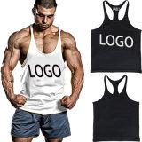 Muscle de remise en forme de haute qualité personnalisée Stringer Plain salle de gym hommes Tank Top gilet en coton avec logo d'impression