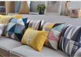 Ammortizzatore geometrico della manovella del cuscino minimalista moderno scandinavo di stile della peluche