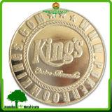 Покрынная фабрикой форма цвета золота круглая с монеткой сувенира Enamle золота конструкции крылов мягкой