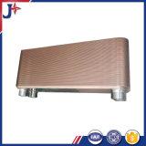 cambiador de calor cubierto con bronce 316L de la placa para el líquido al líquido