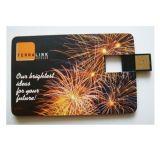 Lecteur flash USB par la carte de crédit fait sur commande de forme de vente chaude