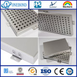 El panel de techo perforado de aluminio del metal