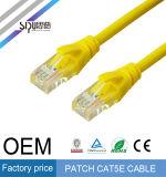 Câble de cordon de connexion de la fiche Cat5e Cat5 de RJ45 de prix usine de Sipu