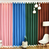 2017 concevoir le rideau en guichet solide d'arrêt total de polyester pur de type (12F0026)