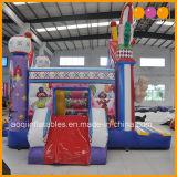 Aoqi más reciente juego inflable payaso de circo Combo Slide Bouncer (AQ01605)