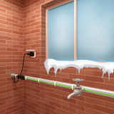 Frostschutzstern-selbstregulierendes Heizkabel mit der Kontroll-Lampe
