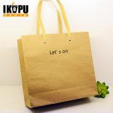 Подгонянный логосом мешок хозяйственной сумки Promotinoal/несущей одежд бумажный
