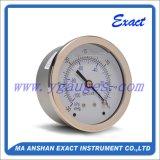 La pression en laiton de connexion Mesurent-En arrière l'indicateur de pression de Manomètre-Vide d'entrée