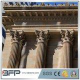 Steen die Witte Marmeren Roman Kolom voor de Decoratie van het Huis snijden