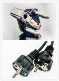 Вставки штепсельной вилки VDE EU/средняя восточная вставка Schuko штепсельной вилки вставки затыкают полые штыри RoHS твердого тела