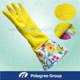 Перчатки чистки кухни перчаток 300mm домочадца Flocklined