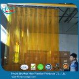 gordijn van de Deur van de Strook van de Veiligheid van het anti-Insect van de Breedte van 200mm het Oranje Geribbelde Plastic