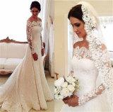 outre de la robe de mariage nuptiale de lacet de robe de mariage d'épaule Ld16316