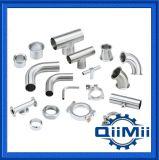 Raccord sanitaire en tuyau d'acier inoxydable Coude / pince / Ferrule Ss304 / 316L