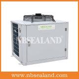 La unidad de condensación para un cuarto frío.
