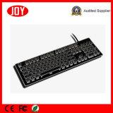 Профессиональная водоустойчивая освещенная контржурным светом связанная проволокой клавиатура игры механически