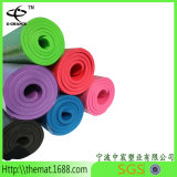 Mat van de Yoga Eco van het Etiket NBR van de Douane van de Prijs van de fabriek de Directe Antislip Vriendschappelijke