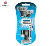 Rasoio con sicurezza manuale del rasoio delle 3 lamierine delle teste, rasoio ambientale