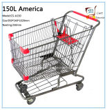 150L Ameriac Style Warenkorb Einkaufen Trolley
