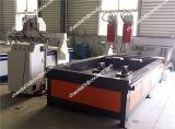 El doble de los Jefes Rotary Router CNC Máquina de madera para la venta