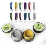 Nail Art Utilisez High Shine Silver Mirror Gel Nail Chrome Magic Powder