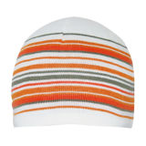 Chapéu feito malha forma com listra (JRK160)