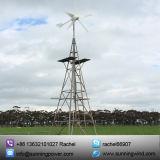 Het Systeem van de Levering van de Macht van het Zonnepaneel van de Turbine van de wind op Landbouwbedrijf wordt gebruikt dat