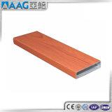 Color de madera del perfil de la aleación de aluminio para el tubo redondo