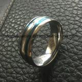 De blauwe Comfortabele Oppoetsende Ring van de Vinger van Juwelen Placted (SSR2696)