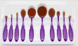 Maquillaje del estudio de los cepillos 10PC del maquillaje del diente el FAVORABLE compone el kit cosmético del conjunto de cepillo