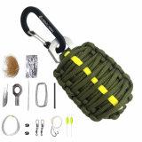 Kampierender Überlebens-Emergency Installationssatz-Fischen-Installationssatz mit Feuer-Starter und Messer