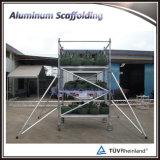 Andamio móvil de aluminio con el certificado del TUV