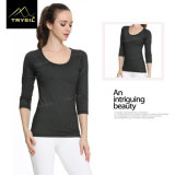 여자를 위한 긴 소매 요가 t-셔츠 운영하는 셔츠