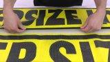 Großes Format-Überformateingabe, die Ineinander greifen-Fahnen-Drucken bekanntmacht