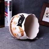 Regali & Flowerpot rotondo del reticolo sveglio di ceramica della bambola della decorazione