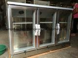 Inoxydable Stee Sous Refroidisseur de barre de comptoir avec porte en verre