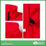 Jupe à capuchon de Softshell de couleur rouge de femmes de ski occasionnel en gros d'OEM