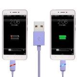cable micro ligero del USB del cargador de los datos del 1m LED para el androide V8 de Samsung