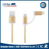 accessori di nylon del telefono del cavo di rotondità del USB di 20cm (TUV)