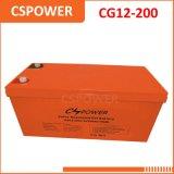 Fornitore del totalizzatore del gel di Cg12-200 Cina 12V 200ah con la garanzia 3years