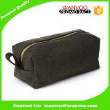Bolso cosmético de la bolsa de los hombres del fieltro de la manta de la tela de la colada del recorrido del tocador de encargo del artículo de tocador