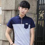 Camicia di polo del piquè di abitudine CVC del Mens con una casella