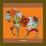 Изготовленный на заказ шарфы печатание 100% цифров Silk (F13-0048)
